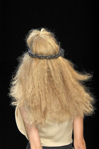 Brown, Hairstyle, Style, Hair accessory, Blond, Fashion, Costume accessory, Long hair, Beige, Tan,