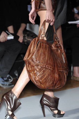 Footwear, Brown, Joint, Human leg, High heels, Bag, Style, Tan, Leather, Fashion accessory,