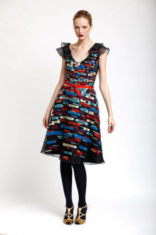 Clothing, Sleeve, Shoulder, Dress, Textile, Joint, Standing, One-piece garment, Style, Pattern,