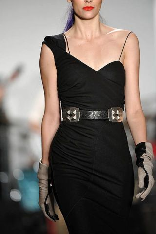 Clothing, Dress, Joint, Fashion model, Fashion accessory, Fashion, Black, Little black dress, Waist, Body jewelry,