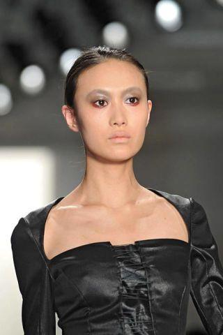 Clothing, Ear, Lip, Hairstyle, Style, Eyelash, Fashion, Beauty, Fashion show, Fashion model,