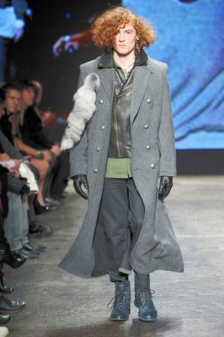 Clothing, Footwear, Human, Shoe, Outerwear, Coat, Winter, Fashion show, Style, Jacket,