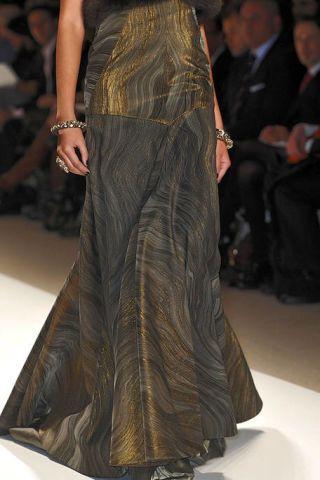 Clothing, Style, Fashion model, Fashion, Waist, Fashion show, Haute couture, Fashion design, Runway, One-piece garment,