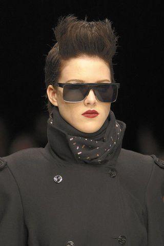 Clothing, Eyewear, Ear, Vision care, Sleeve, Eyebrow, Jacket, Outerwear, Earrings, Winter,