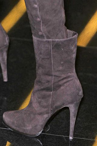 High heels, Boot, Fashion, Black, Leather, Tan, Material property, Fashion design, Foot, Synthetic rubber,