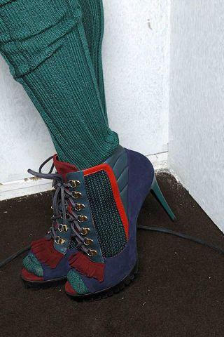 Human leg, Teal, Carmine, Grey, Electric blue, Sock, Costume accessory, Outdoor shoe, Running shoe, Walking shoe,