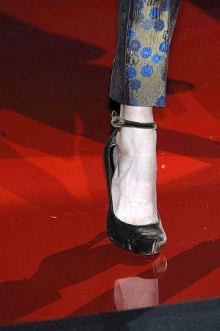 Human leg, Carmine, Knee, Sock, Ankle, Knee-high boot,
