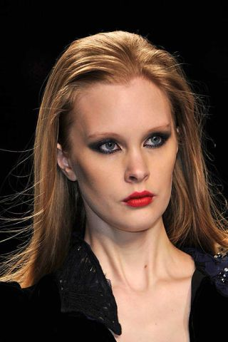Nose, Mouth, Lip, Cheek, Hairstyle, Chin, Eyebrow, Eyelash, Style, Eye shadow,