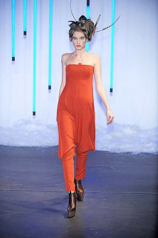 Human body, Shoulder, Style, Dress, Costume design, Fashion, Electric blue, Waist, Orange, Fashion model,
