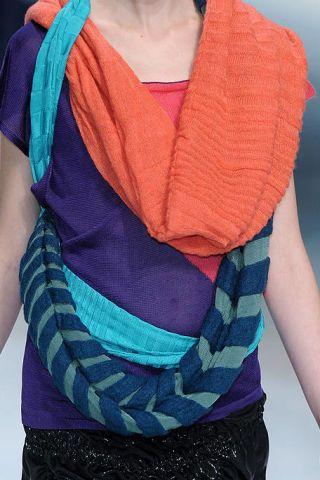 Blue, Shoulder, Textile, Pattern, Electric blue, Purple, Fashion, Neck, Orange, Magenta,