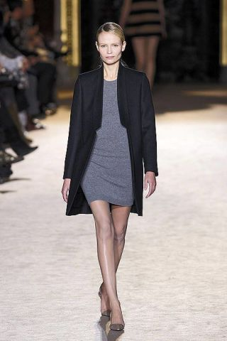Clothing, Leg, Shoulder, Fashion show, Human leg, Joint, Outerwear, Runway, Fashion model, Style,