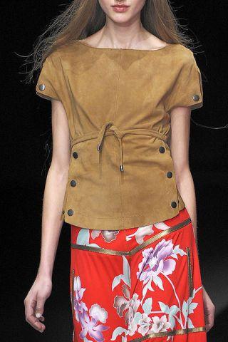 Brown, Sleeve, Human body, Shoulder, Textile, Joint, Waist, Style, Khaki, Fashion model,