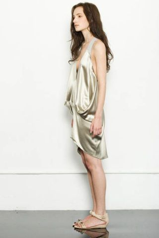 Clothing, Brown, Human leg, Shoulder, Joint, Dress, Style, Sandal, One-piece garment, Knee,