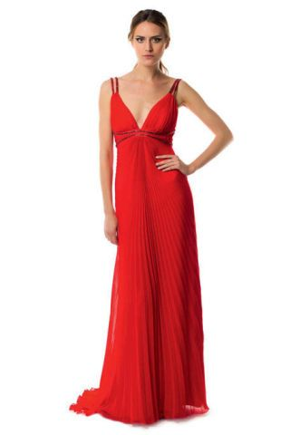 Clothing, Dress, Sleeve, Shoulder, Textile, Red, Standing, Joint, One-piece garment, Formal wear,