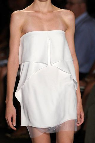 Clothing, Shoulder, Dress, Joint, White, One-piece garment, Fashion, Neck, Waist, Fashion model,