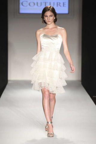 Clothing, Hairstyle, Dress, Skin, Shoulder, Fashion show, Human leg, Joint, Fashion model, One-piece garment,