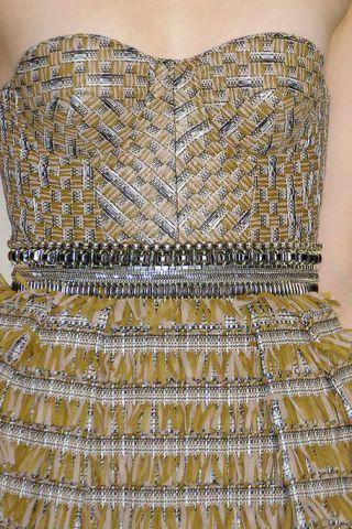 Product, Brown, Yellow, Textile, Pattern, Fashion, Black, Beige, One-piece garment, Embellishment,