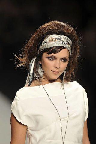 Clothing, Lip, Hairstyle, Eyebrow, White, Style, Hair accessory, Headpiece, Eyelash, Headgear,
