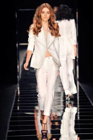 Clothing, Product, Fashion show, Human body, Runway, Outerwear, Fashion model, Coat, Formal wear, Style,