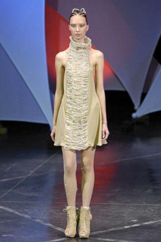 Clothing, Dress, Shoulder, Fashion show, Joint, Runway, Style, Fashion model, Fashion, One-piece garment,