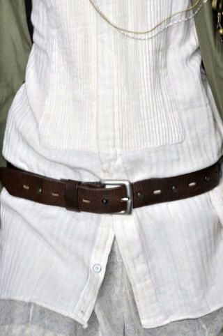 Clothing, Product, Brown, Collar, Sleeve, Dress shirt, Textile, White, Pocket, Pattern,