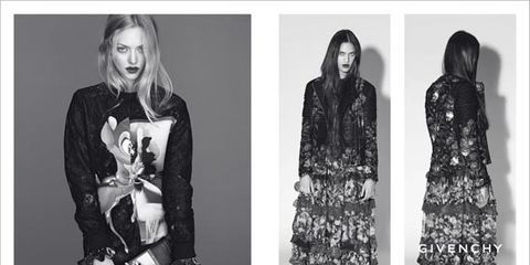Givenchy Taps Amanda Seyfried and Carine Roitfeld for the Fall 2013 Campaign