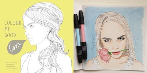 See The Cara Delevingne Coloring Book