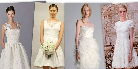 Bridal Week's Shorter Hemlines Will Make You Rethink Traditional Wedding Gowns