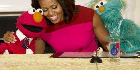 Your Friday Dose of Cute: Michelle Obama With Elmo and Rosita From 'Sesame Street'