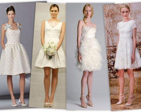 Short Wedding Dresses - Bridal Week Fall 2014