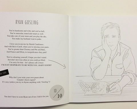 Ryan Gosling Coloring Book Colour Me Good Swooooon Mel Elliott