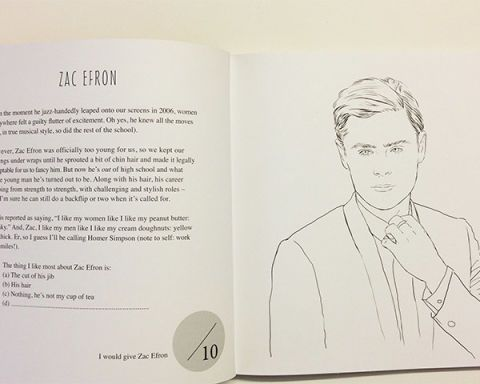 Zac Efron Coloring Book Colour Me Good Mel Elliott