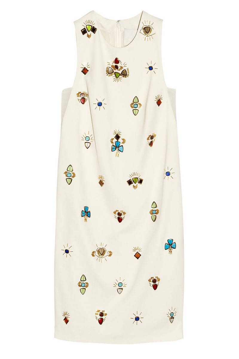 phillip lim embellished crepe dress