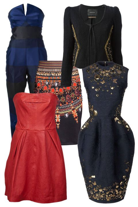 Sleeve, Dress, Textile, Red, Pattern, Formal wear, One-piece garment, Fashion, Neck, Black,