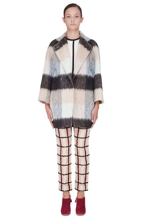 chloe plaid coat