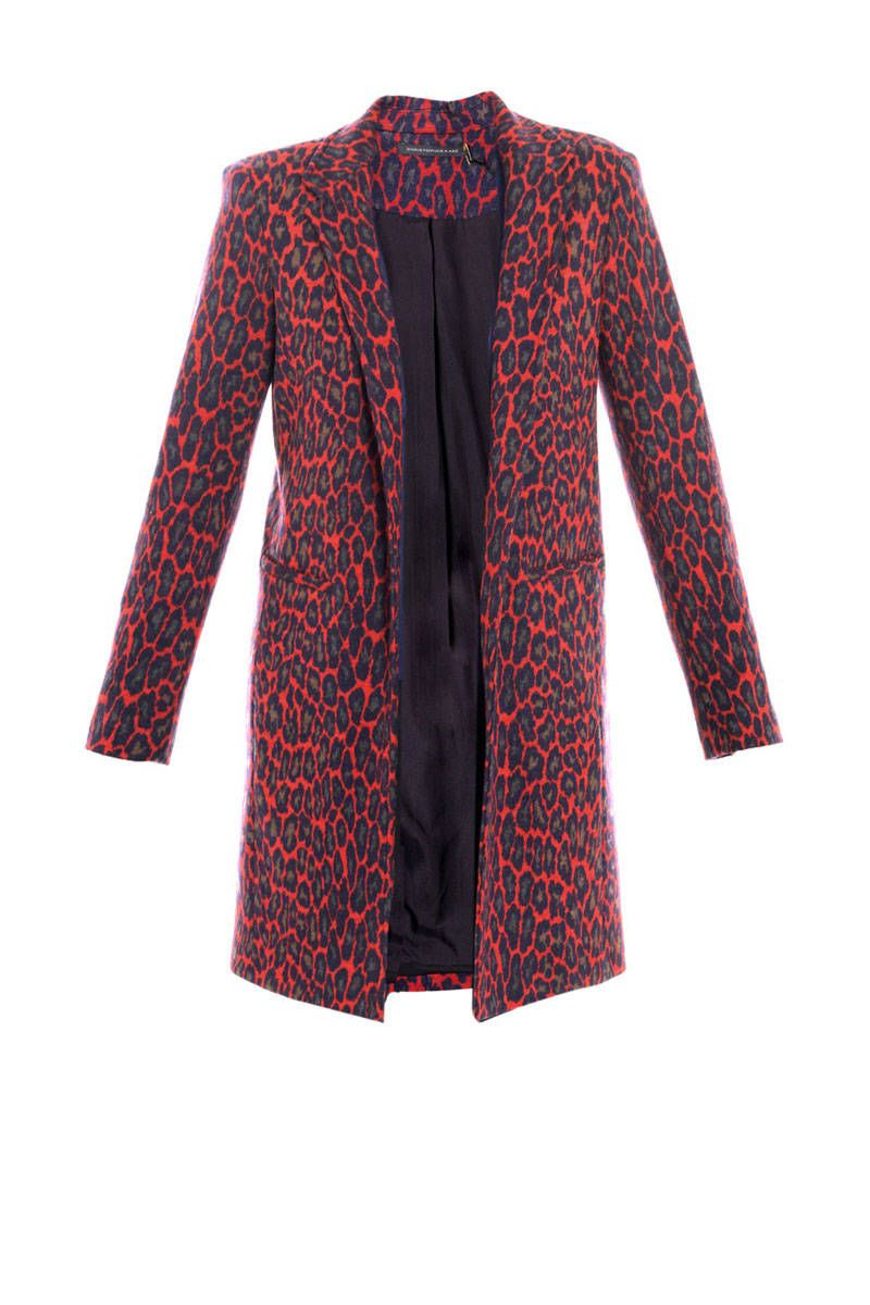 christopher kane red leopard print coat