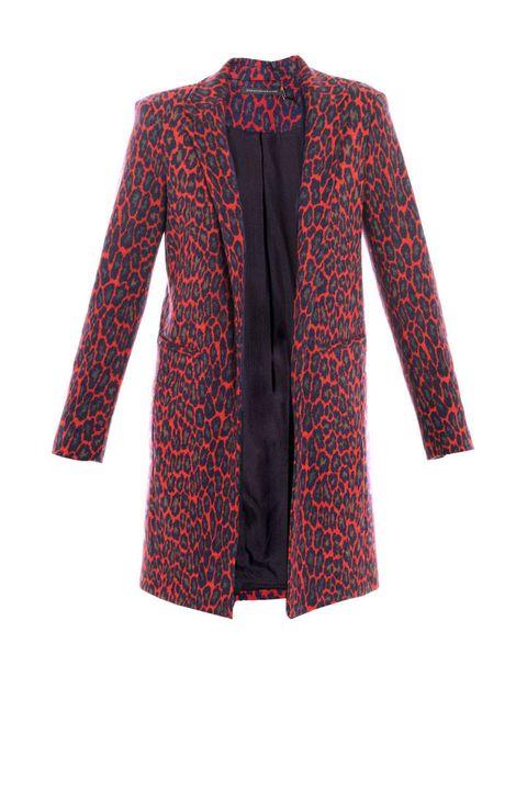 christopher kane red leopard print coat