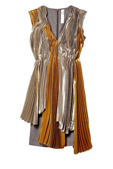 tia cibani metallic lame dress