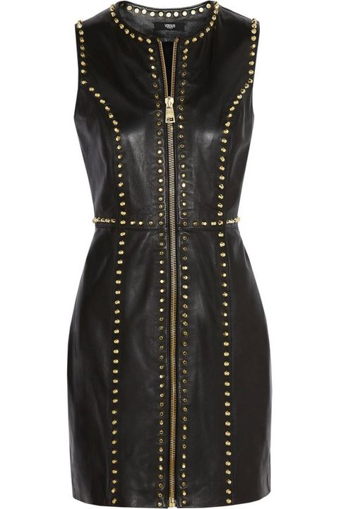 versus studded leather mini dress