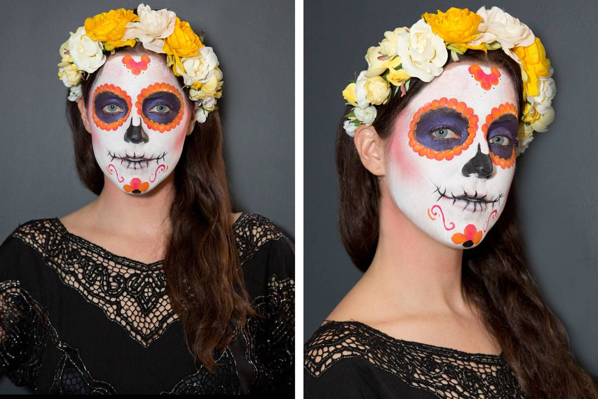 Sugar Skull Makeup How To How To Paint A Sugar Skull Face
