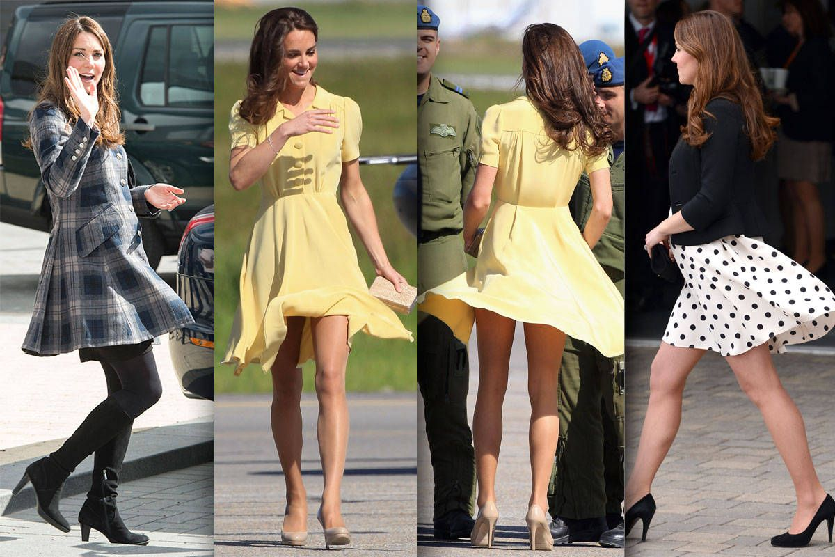 Kate Middletons Mini Skirt The Queen Objects To The Length Of