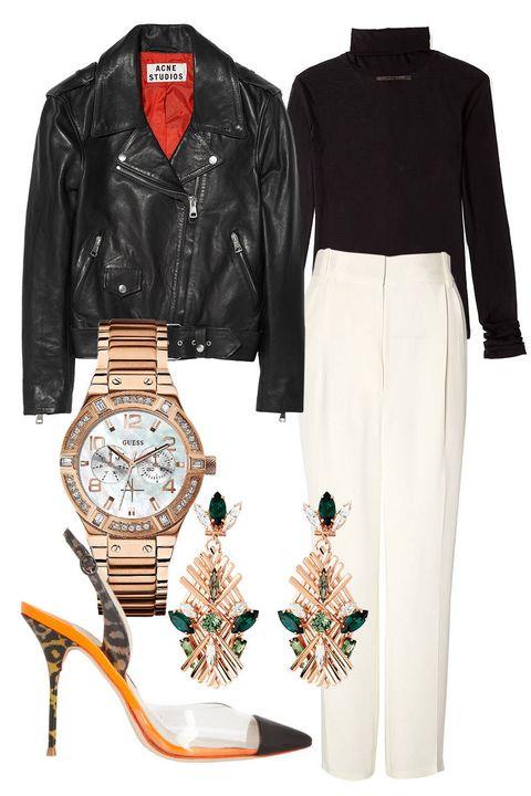 Product, Sleeve, Jacket, Collar, Textile, Style, Pattern, Fashion, Black, Leather jacket,