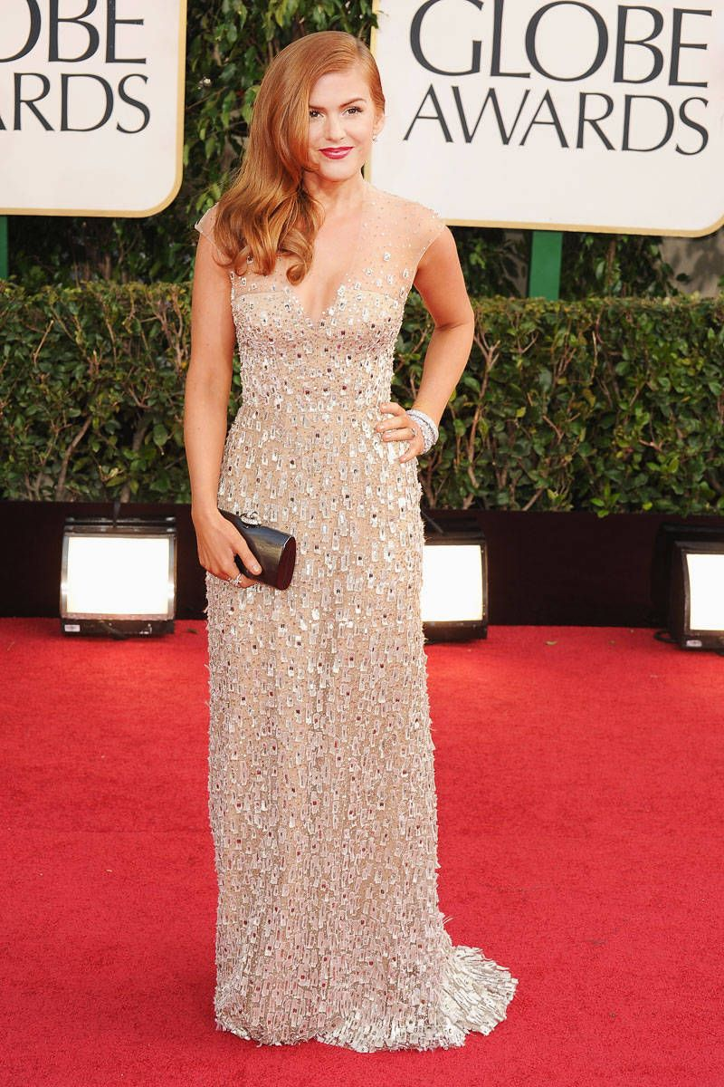 isla fisher golden globes 2013 dress
