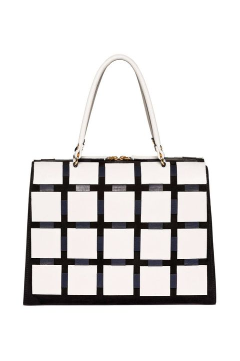 marni leather grid handbag