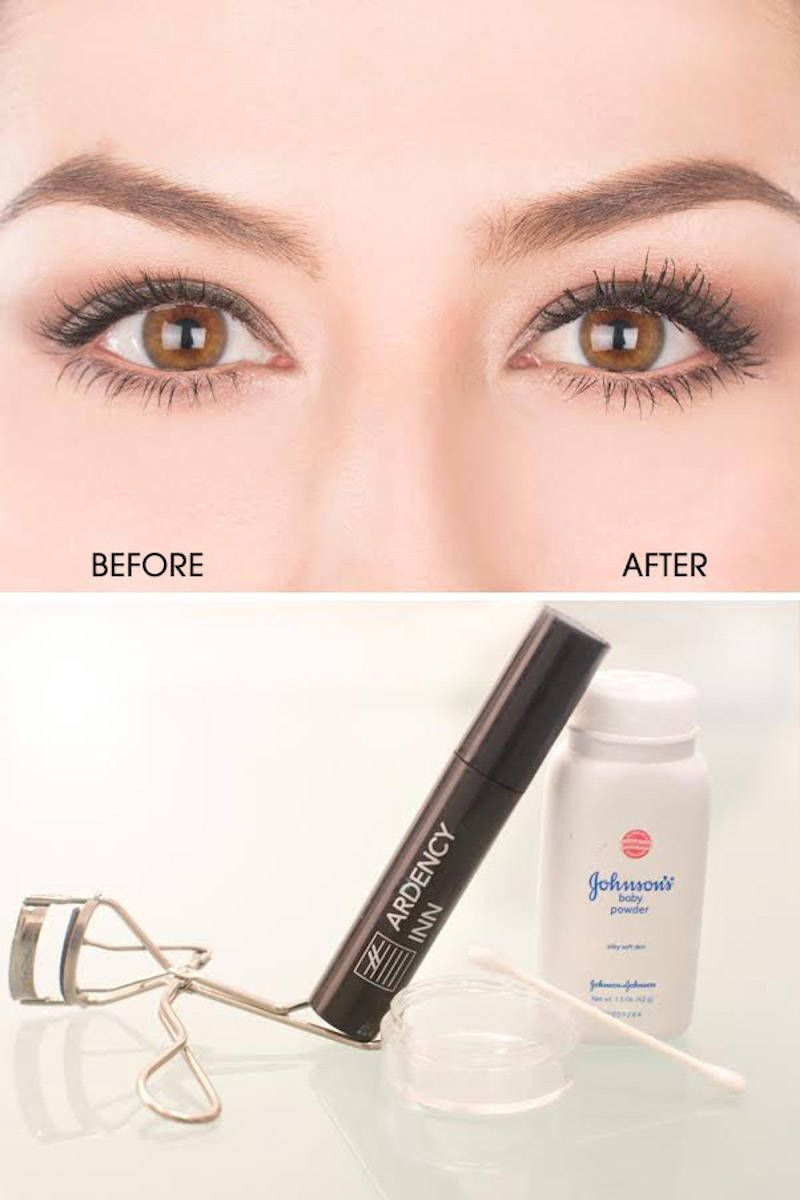 How to Get Faux-Looking Lashes Using Baby Powder - Baby Powder