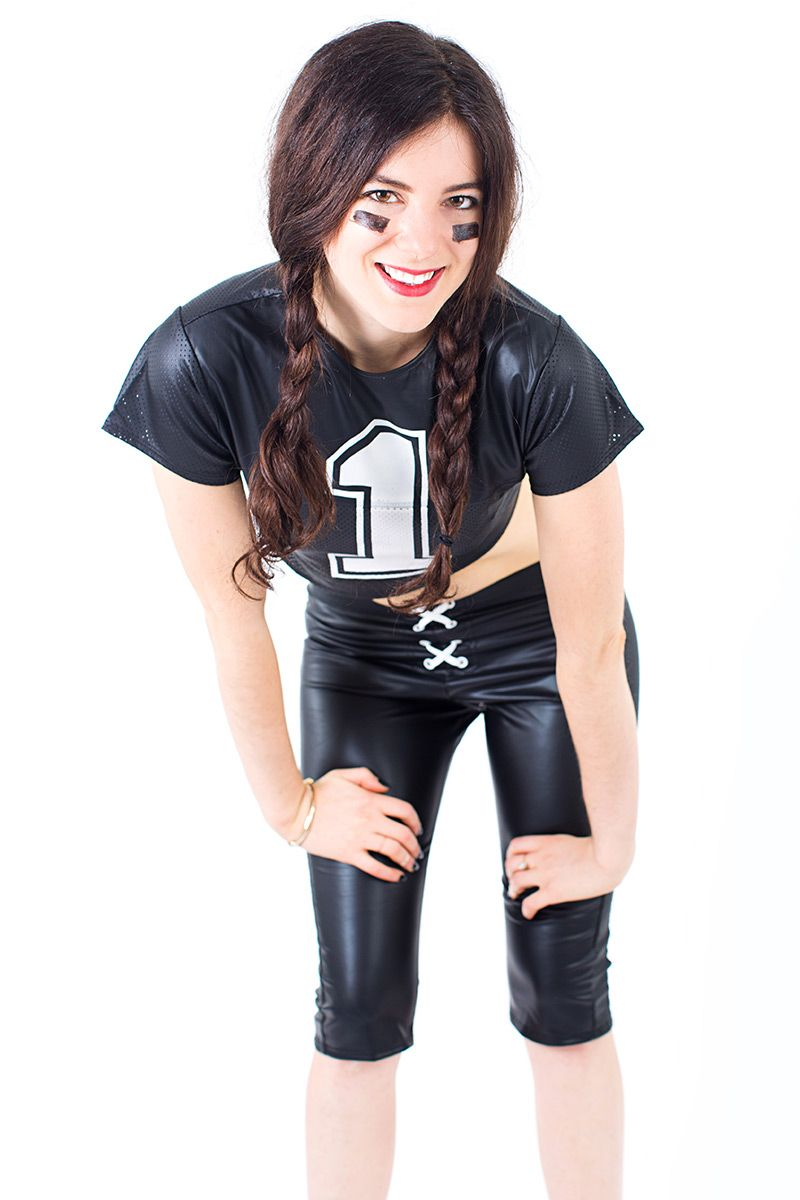 how to style slutty halloween costumes for everyday how to rewear sexy halloween costumes - Girls Football Halloween Costume