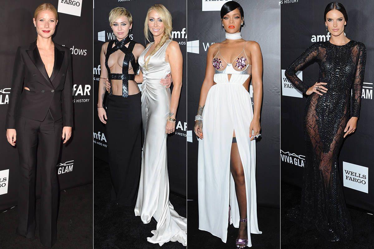 All the Fashion From Last Night's amfAR Gala: Alexa Chung, Lindsay Lohan,More