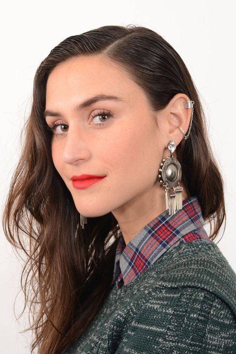 Nose, Ear, Earrings, Lip, Hairstyle, Skin, Chin, Forehead, Eyebrow, Eyelash,