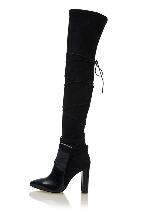 Footwear, Brown, Shoe, Boot, Costume accessory, Leather, Black, Knee-high boot, Riding boot, Tan,