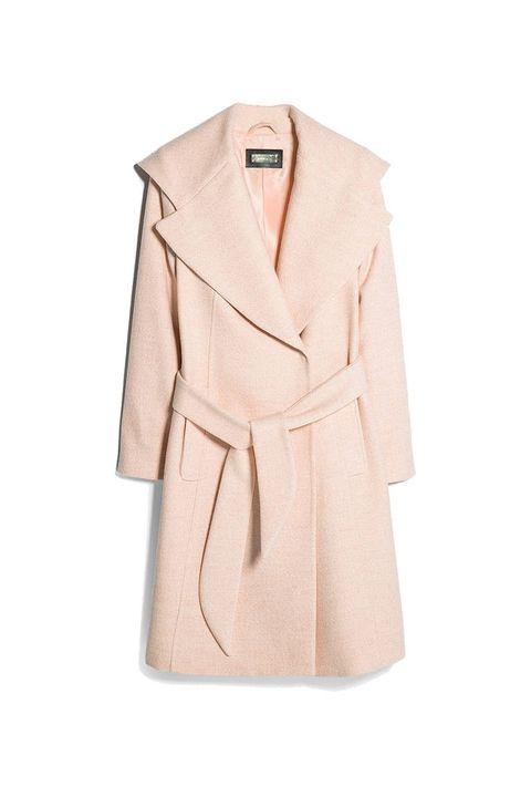 Brown, Collar, Sleeve, Coat, Textile, Outerwear, Tan, Blazer, Fashion, Clothes hanger,